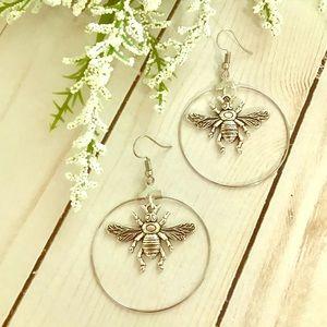 Jewelry - Bee Hoop Earrings